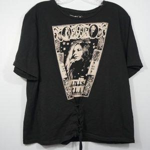 Lucky Brand Janis Joplin Lace Up Tee Size XL